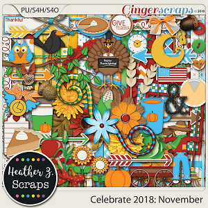 Celebrate 2018: November KIT by Heather Z Scraps