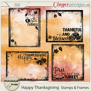Happy Thanksgiving Stamps & Frames