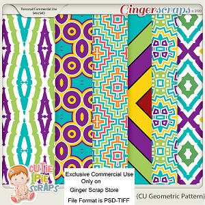CU Geometric Pattern Layered Papers