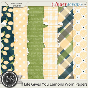 If Life Gives You Lemons Worn Papers