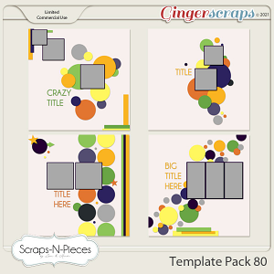 Template Pack 80 by Scraps N Pieces