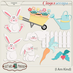 I Am Kind Bunny and Garden CU Layered Template Bundle by Scraps N Pieces
