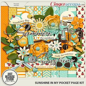 Sunshine In My Pocket Page Kit by JB Studio