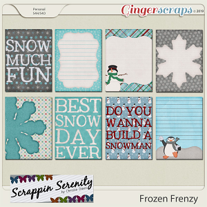 Frozen Frenzy Journal Cards