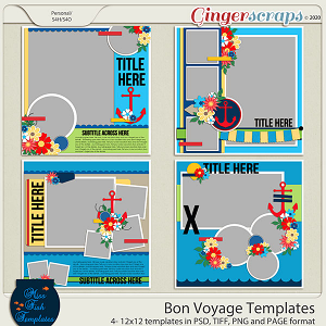 Bon Voyage Templates by Miss Fish