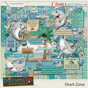 Shark Zone by BoomersGirl Designs