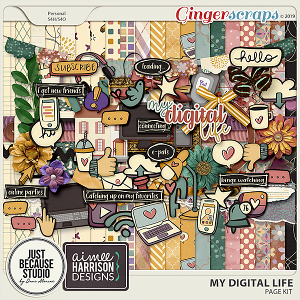 My Digital Life Page Kit by JB Studio and Aimee Harrison Designs