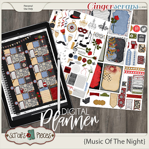 Music of the Night Planner Pieces - Scraps N Pieces