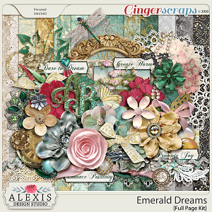 Emerald Dreams - Full Page Kit