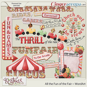 All the Fun of the Fair WordArt