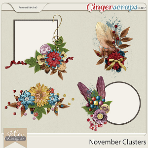 November Clusters by JoCee Designs