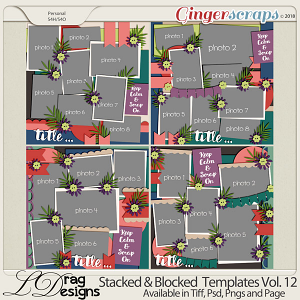 Stacked & Blocked Templates Vol. 12 by LDrag Designs