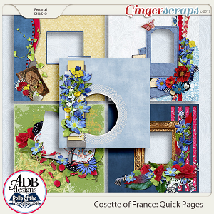 Cosette Quick Pages {DOTW France} by ADB Designs