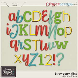 Strawberry Mint Alpha Sets by Aimee Harrison