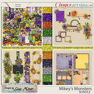 Mikey's Monsters BUNDLE from Designs by Lisa Minor
