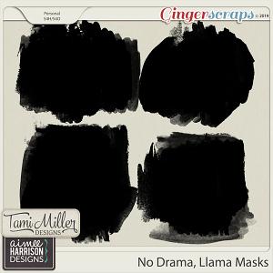No Drama Llama Masks by Tami Miller Designs