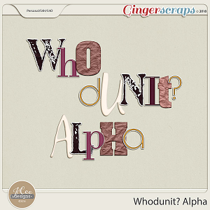 Whodunit Alphas by JoCee Designs