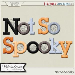Not So Spooky Alphabets
