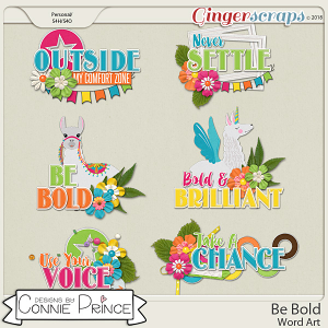 Be Bold - Word Art Pack by Connie Prince