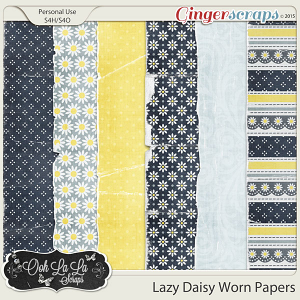 Lazy Daisy Worn Papers