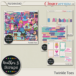 Twinkle Toes BUNDLE by Heather Z Scraps