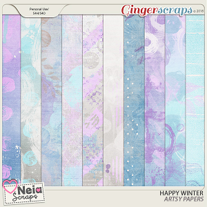 Happy Winter - Artsy Papers - by Neia Scraps
