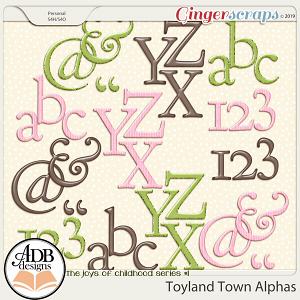 Toyland Town Alphas by ADB Designs