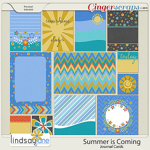 Summer is Coming Journal Cards by Lindsay Jane
