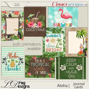 Aloha: Journal Cards by LDragDesigns