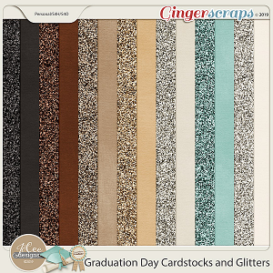 Graduation Day Cardstocks and Glitters by JoCee Designs