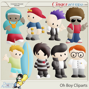 Doodles By Americo: Oh Boy Cliparts