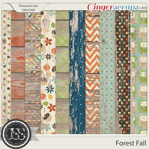 Forest Fall Worn Wood Papers