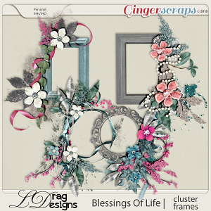 Blessings Of Life: Cluster Frames by LDragDesigns