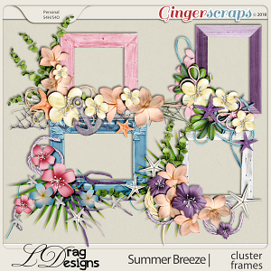Summer Breeze: Cluster Frames by LDragDesigns