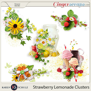 Strawberry Lemonade Clusters by Karen Schulz