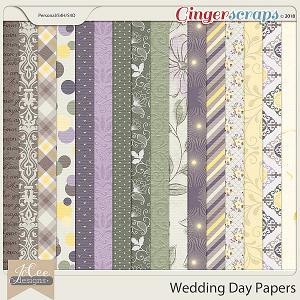 Wedding Day Papers by JoCee Designs