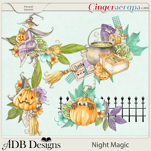 Night Magic Clusters Set 1 by ADB Designs