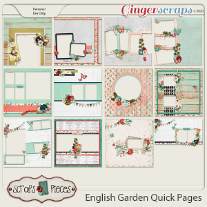 English Garden Quick Pages by Scraps N Pieces
