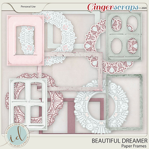 Beautiful Dreamer Paper Frames by Ilonka's Designs