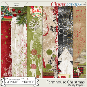 Farmhouse Christmas - Messy Papers by Connie Prince