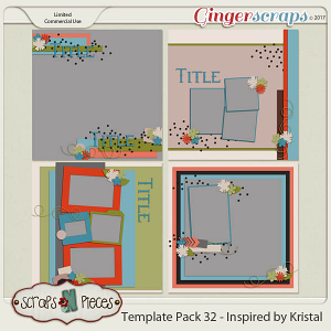 Template Pack 32 - Inspired by Kristal - by Scraps N Pieces