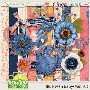 Blue Jean Baby Mini Kit by Key Lime Digi Design