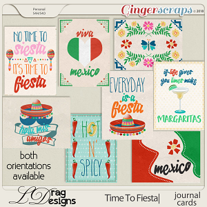 Time To Fiesta: Journal Cards by LDragDesigns