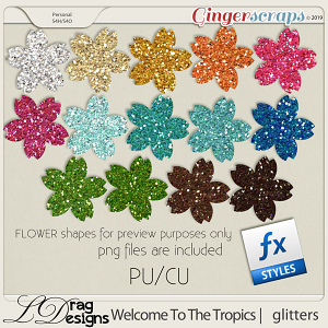 Welcome To The Tropics: Glitterstyles by LDRagDesigns