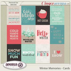 Winter Memories - Cards by Aprilisa Designs