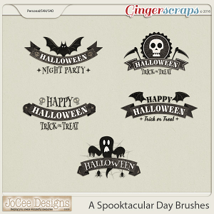 A Spooktacular Day Brushes