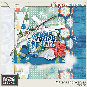Mittens and Scarves Mini Kit by Aimee Harrison