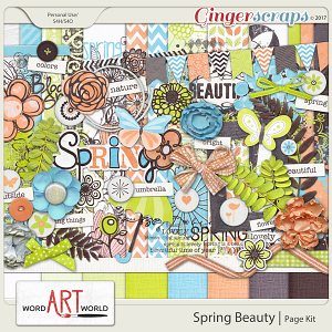 Spring Beauty Page Kit