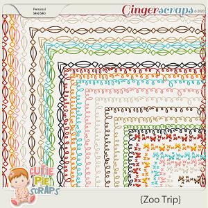 Zoo Trip Page Borders