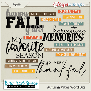 Autumn Vibes Word Bits Pack